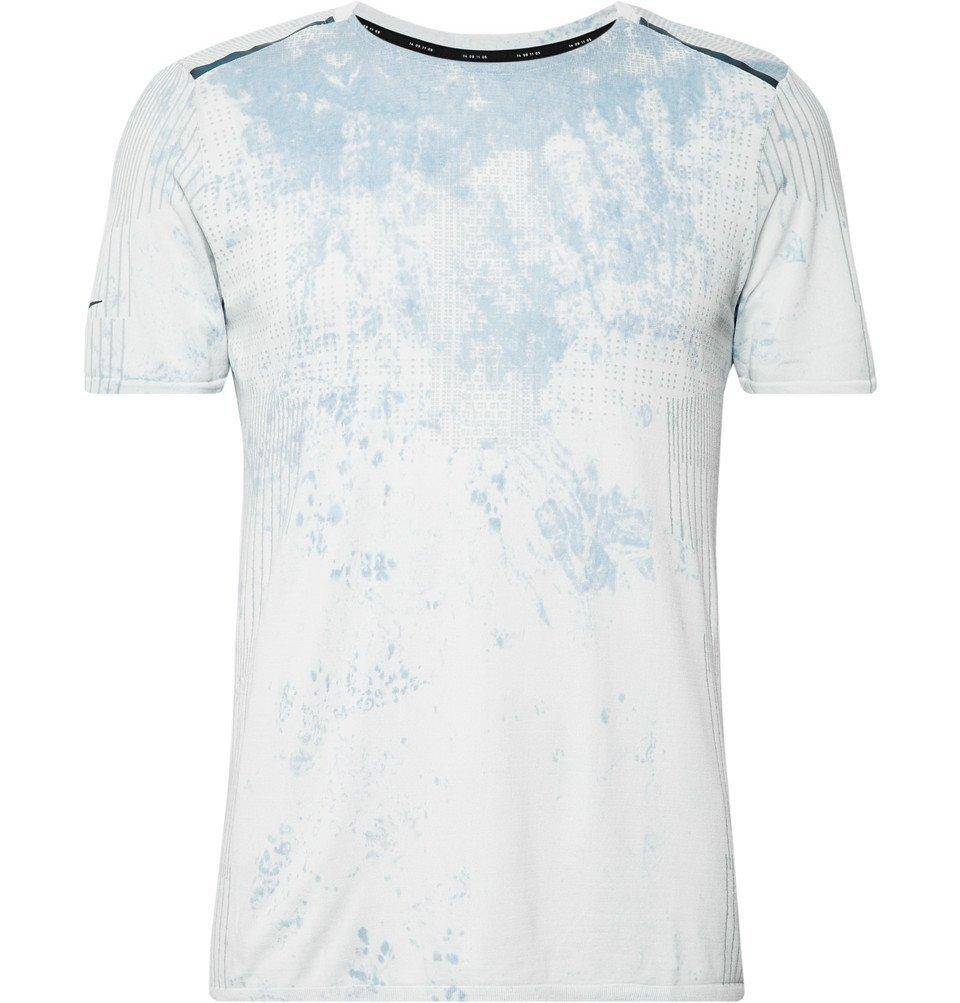Nike Running - Tech Pack Stretch-Mesh Running T-Shirt - Light gray