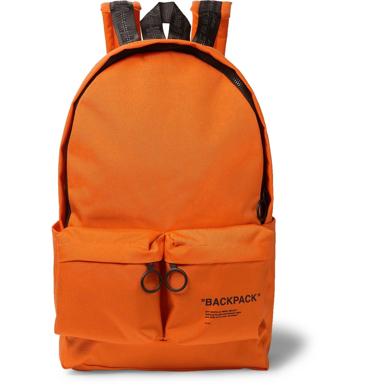 Photo: Off-White - Printed Canvas Backpack - Orange