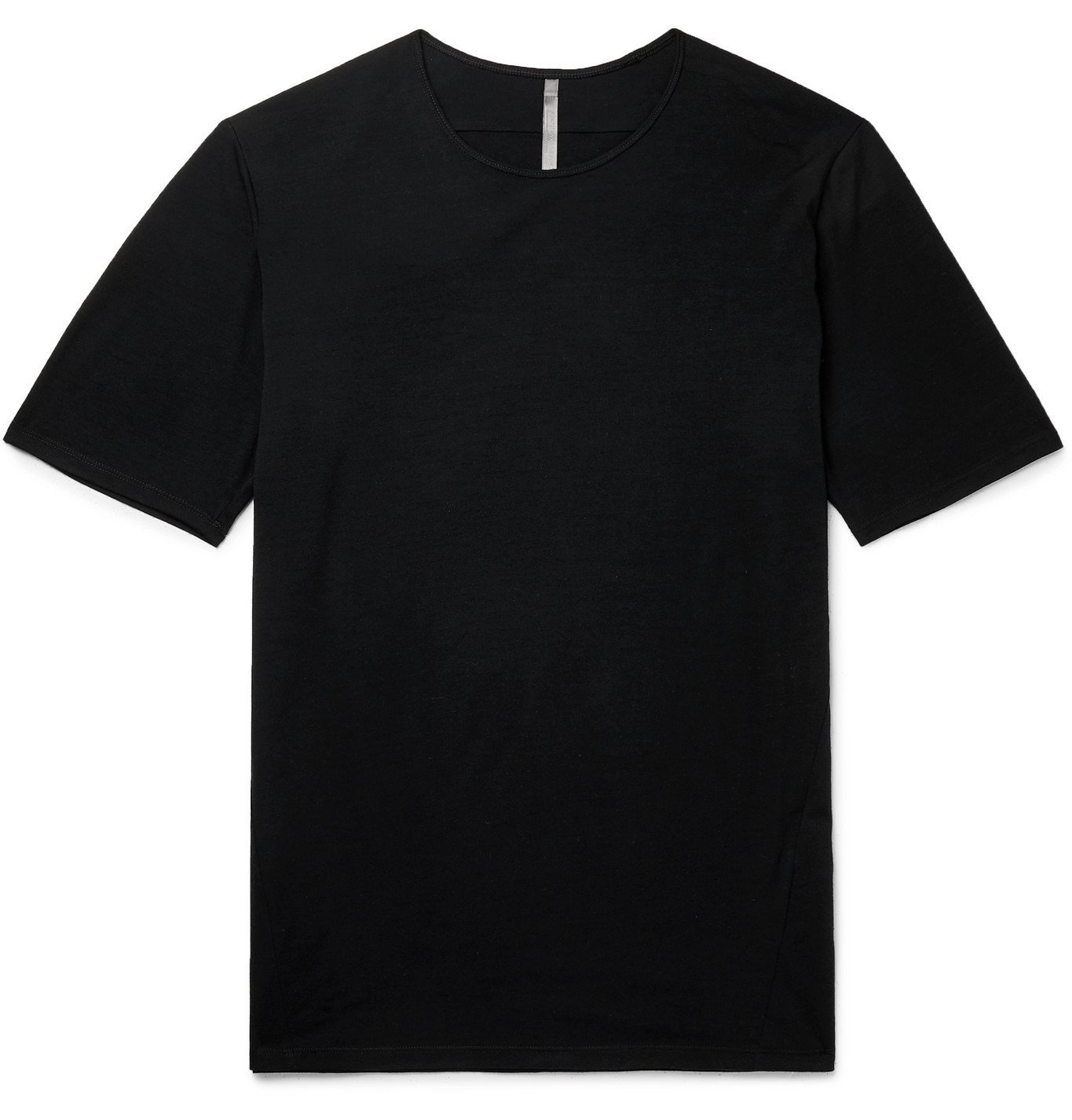 Photo: Veilance - Frame Mélange Wool and Nylon-Blend Jersey T-Shirt - Black