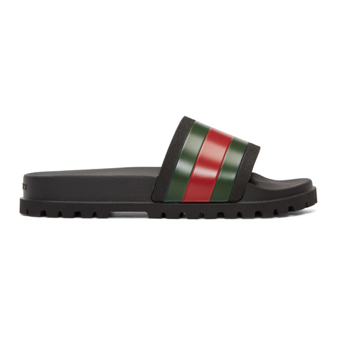 Photo: Gucci Black Trek Slides