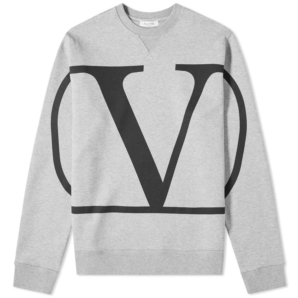 Photo: Valentino Go Logo Print Crew Sweat