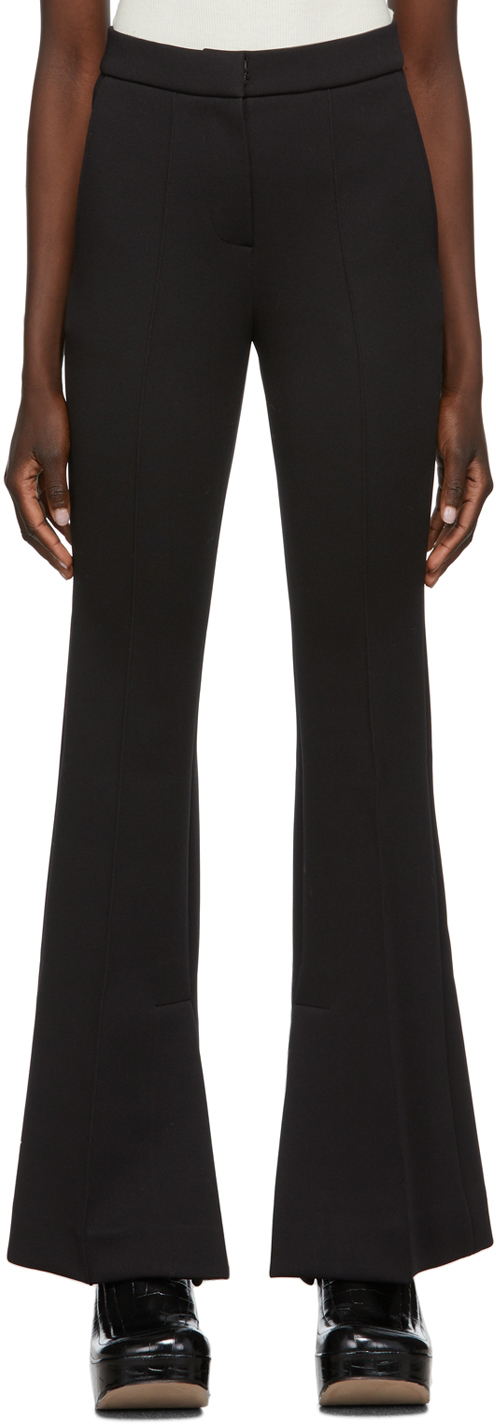 Photo: Recto Black Double-Face Flared Trousers