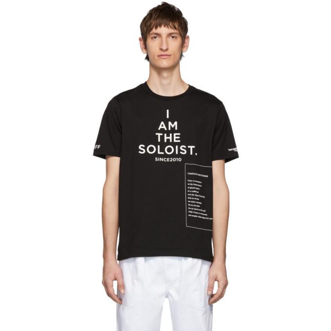 Photo: TAKAHIROMIYASHITA TheSoloist. Black High Gauge Jersey Bootleg Staff T-Shirt