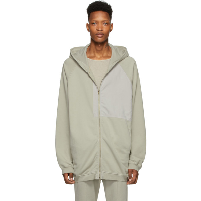 Photo: Haider Ackermann Grey Patched Hoodie