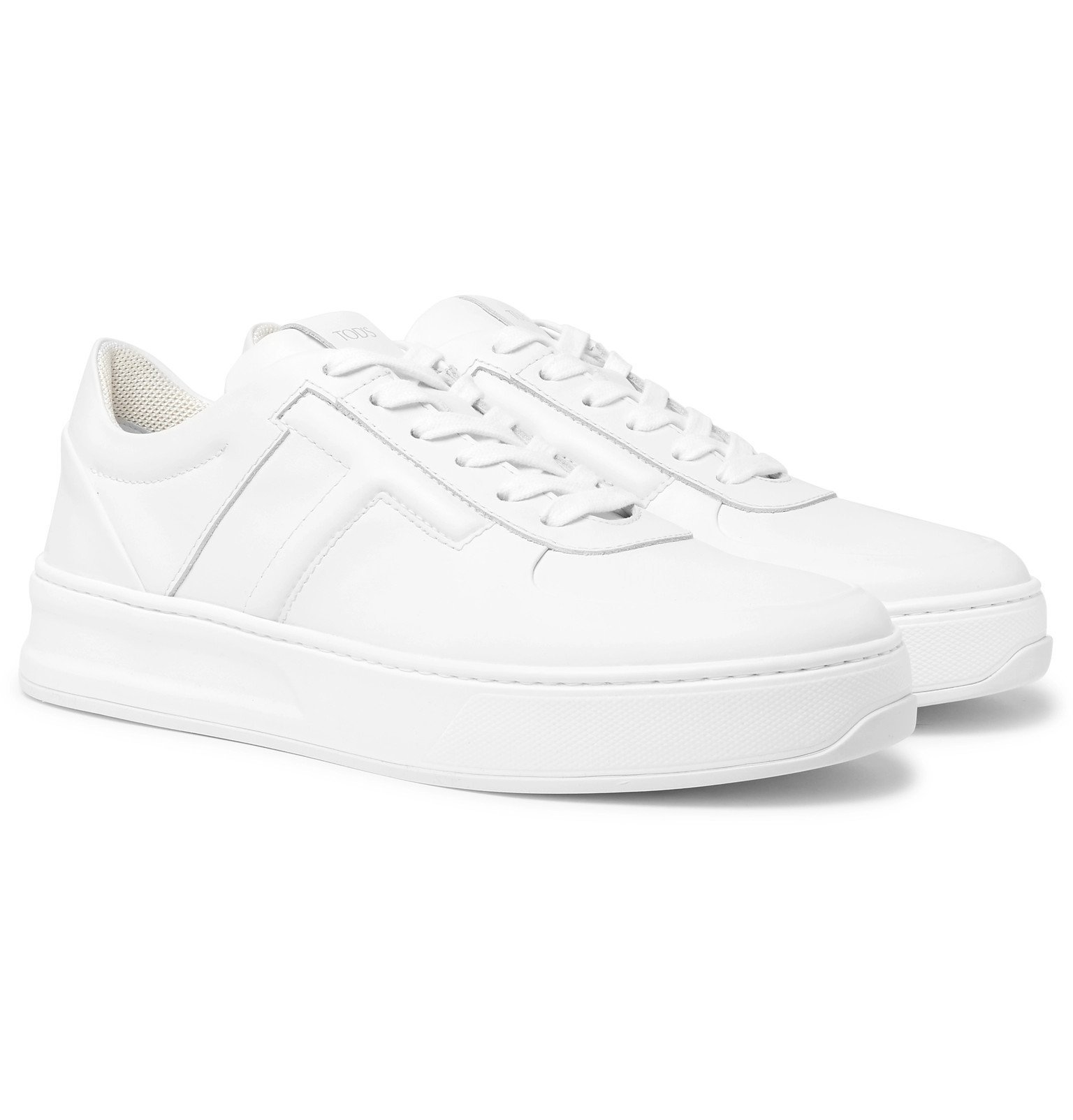Photo: Tod's - Cassetta Leather Sneakers - White