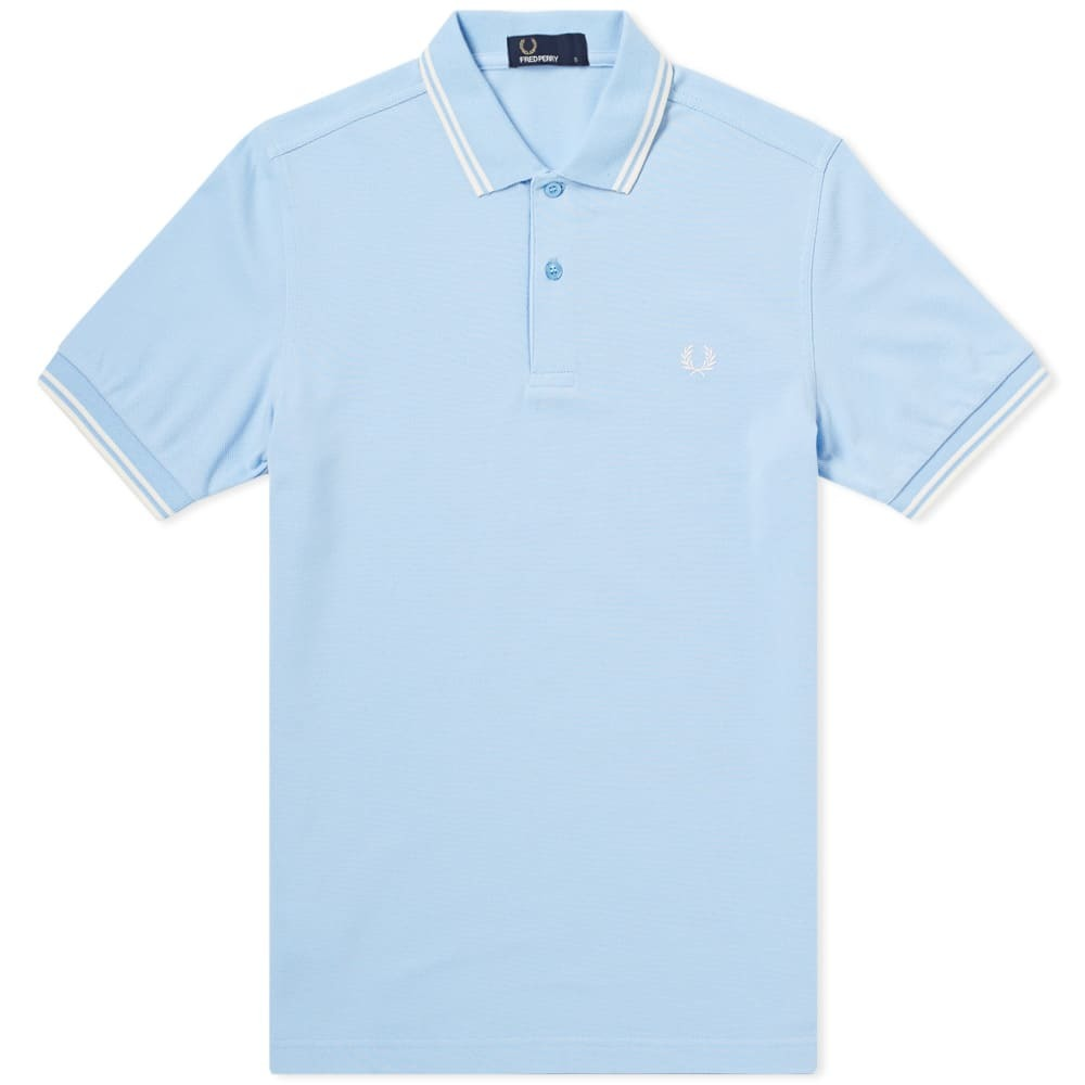 Photo: Fred Perry Twin Tipped Polo Blue