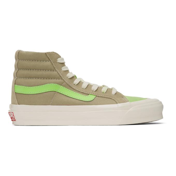 Photo: Vans Green Suede OG 138 LX High-Top Sneakers