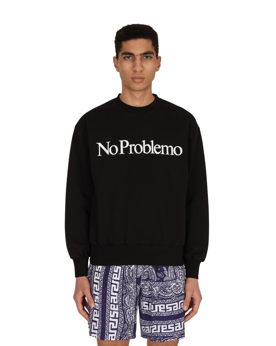 Photo: Aries No Problemo Crewneck Sweatshirt Black