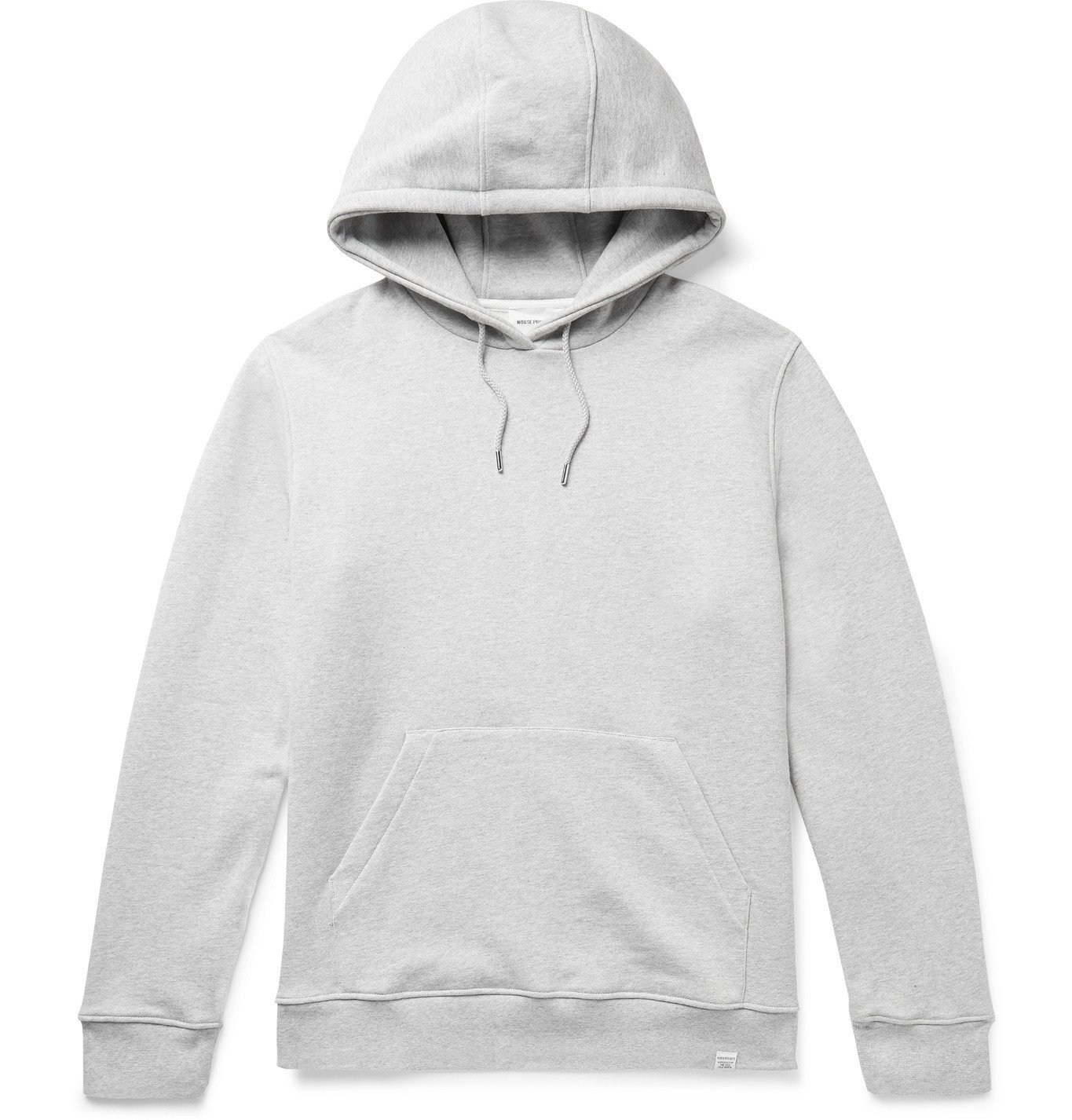 Photo: Norse Projects - Vagn Slim-Fit Mélange Loopback Cotton-Jersey Hoodie - Gray