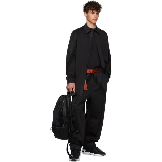 Y-3 Black Oversized M Varsity Shirt