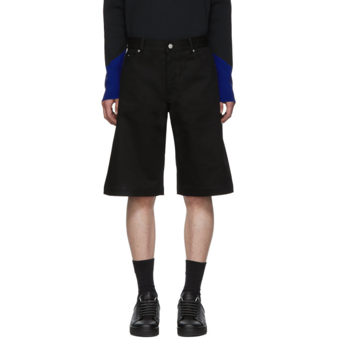 Photo: Bottega Veneta Black Cotton Drill Shorts