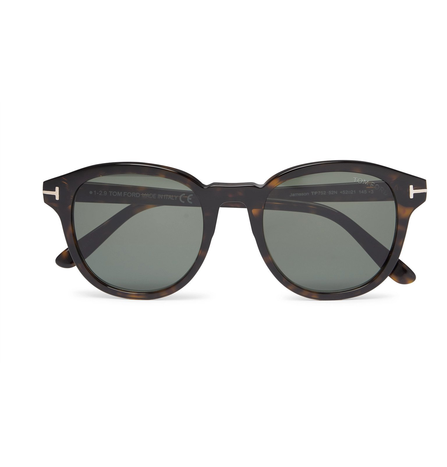 Photo: TOM FORD - Round-Frame Tortoiseshell Acetate Polarised Sunglasses - Brown