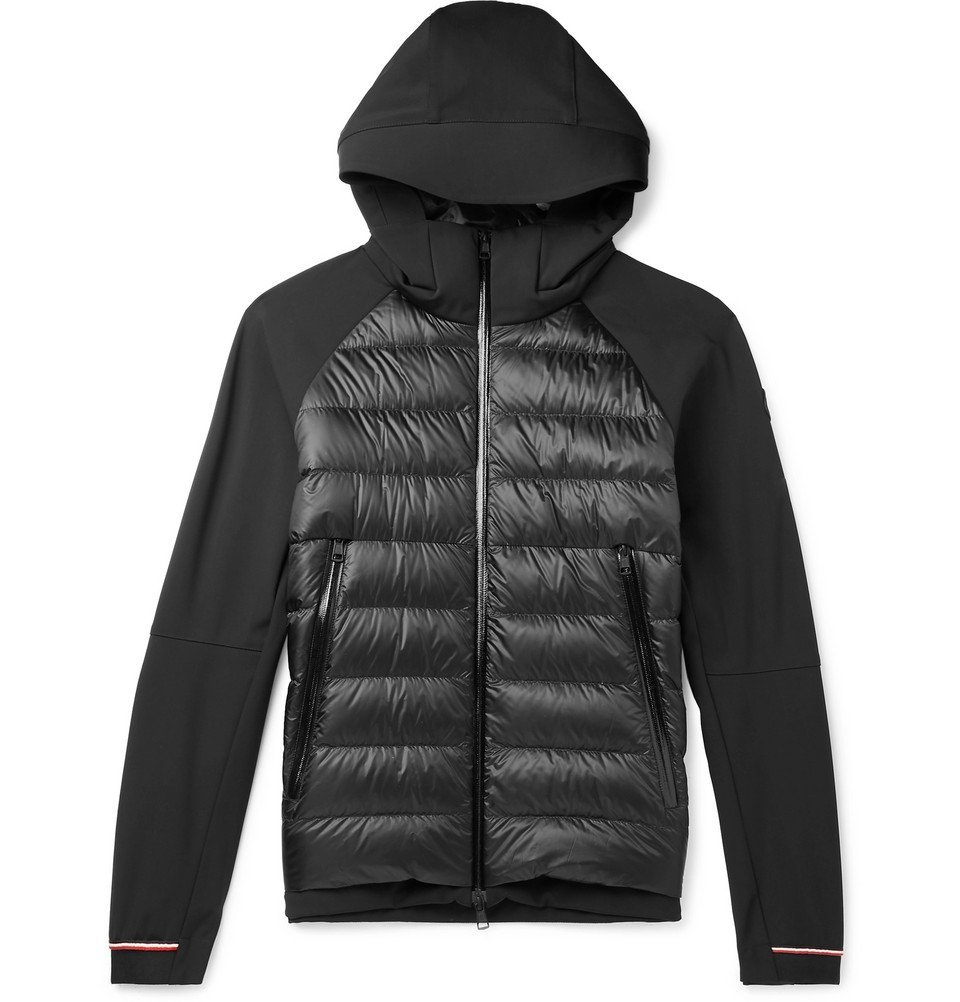 Photo: Moncler - Fabian Panelled Quilted Shell Hooded Down Jacket - Black