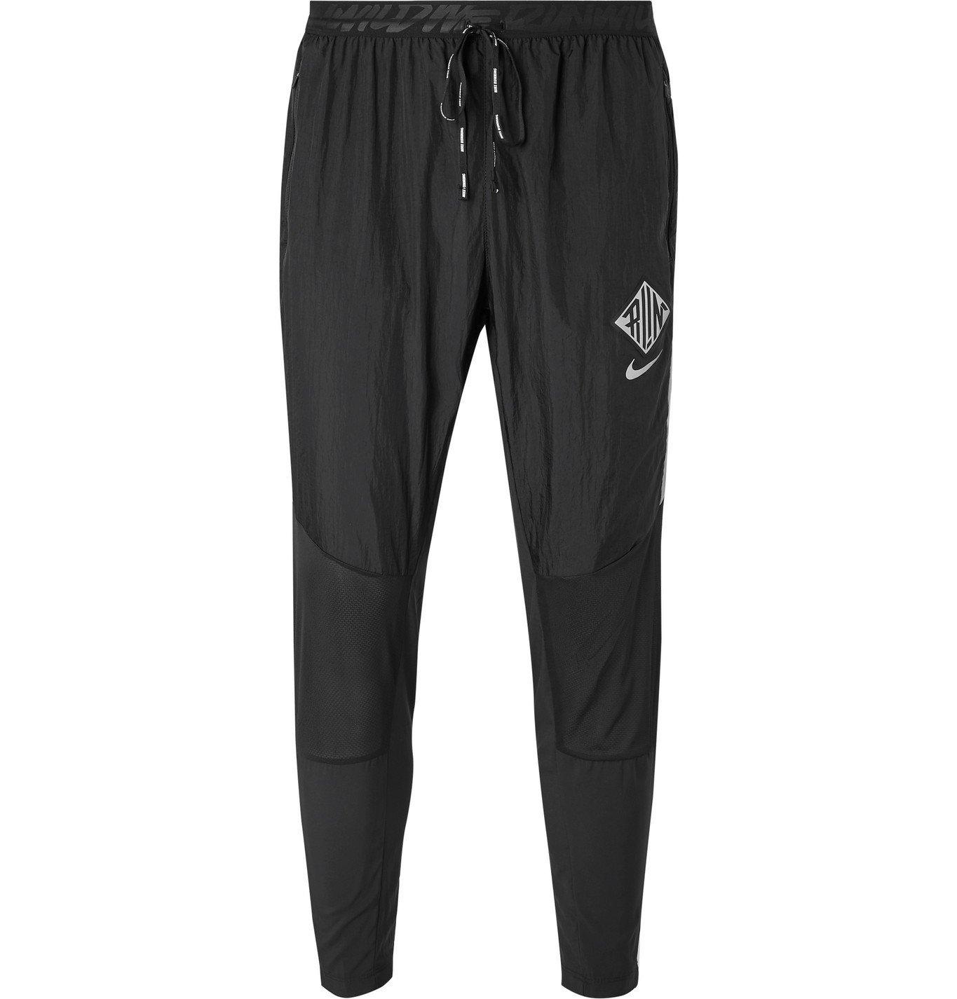 Nike Running - Phenom Elite Tapered Mesh-Panelled Shell Sweatpants - Black