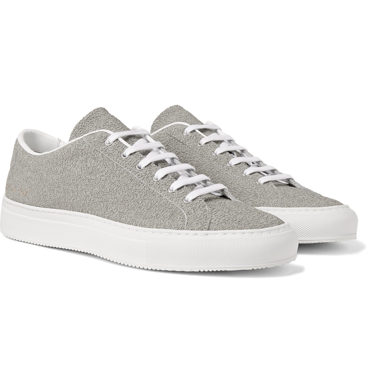 Photo: Common Projects - Achilles Premium Textured-Leather Sneakers - Gray
