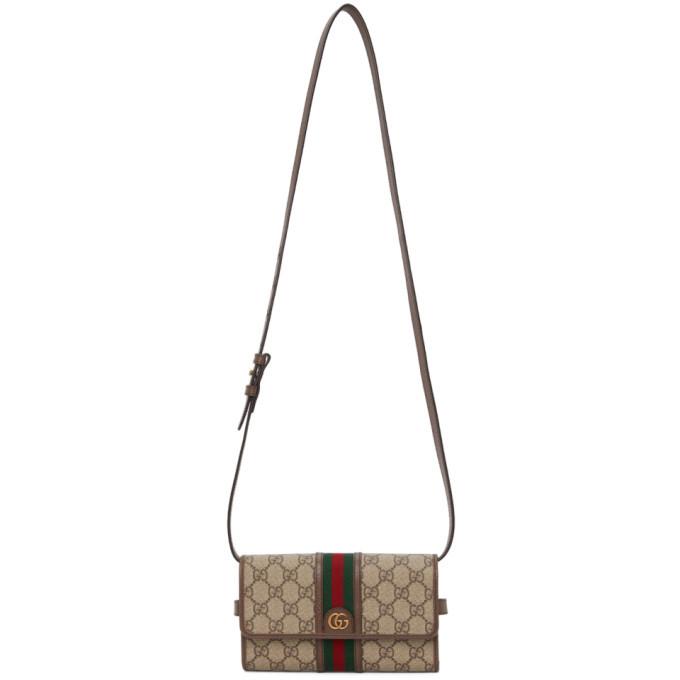 Photo: Gucci Brown Mini GG Supreme Ophidia Messenger Bag