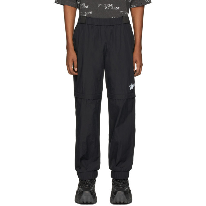 Photo: We11done Black WD Logo Tracksuit Trousers