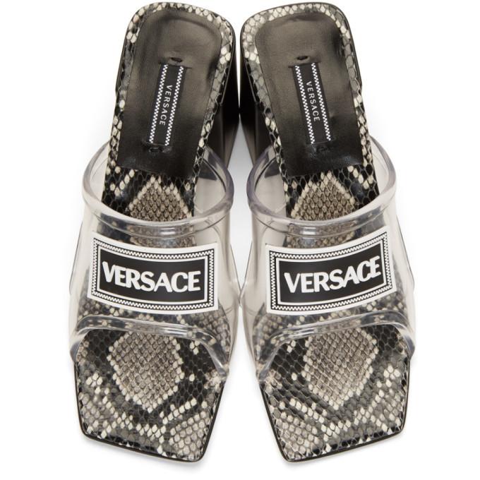Versace Transparent PVC Heel Sandals