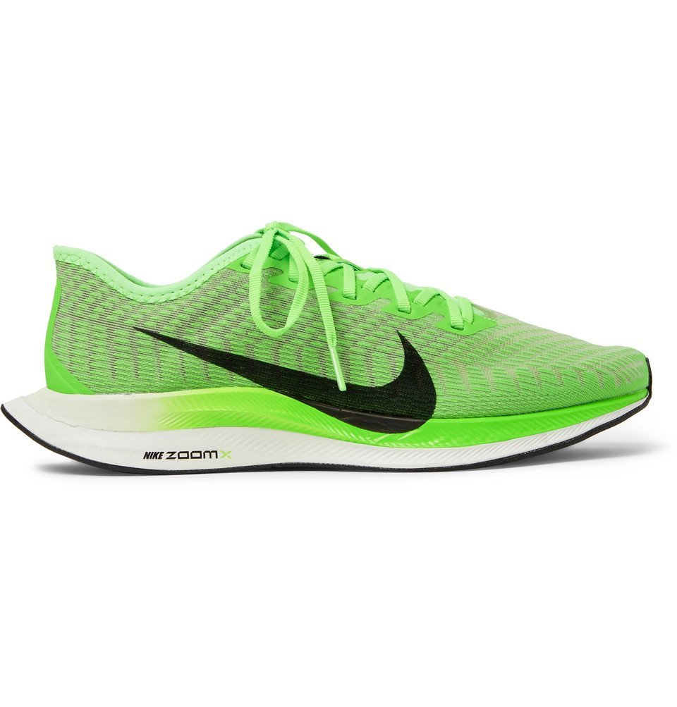 Nike Running - Zoom Pegasus Turbo 2 Mesh Running Sneakers - Green
