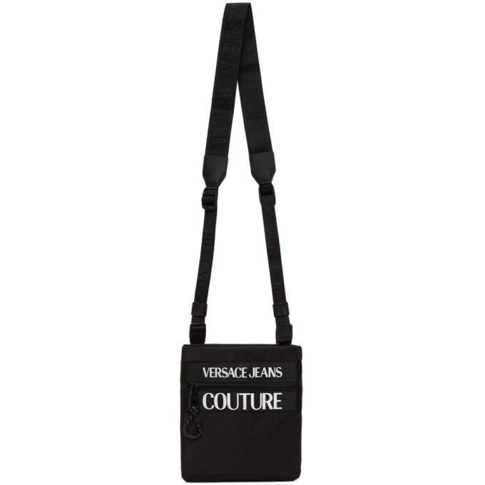 Photo: Versace Jeans Couture Black Logo Messenger Bag