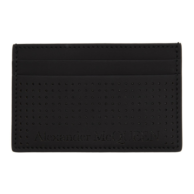 Photo: Alexander McQueen Black Perforated Card Holder