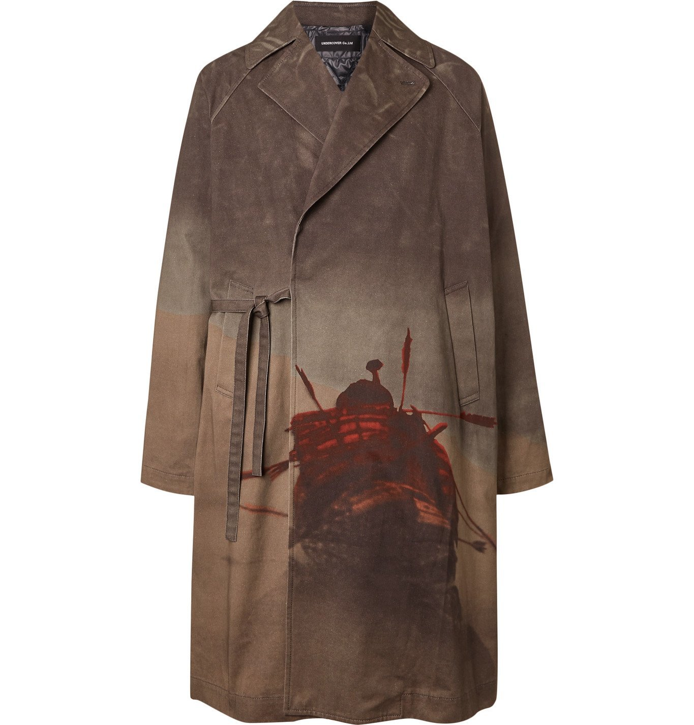Photo: Undercover - Printed Cotton-Canvas Coat with Detachable Shell Liner - Gray