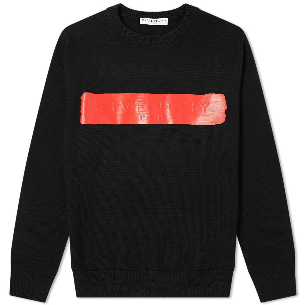 Photo: Givenchy Latex Logo Crew Knit