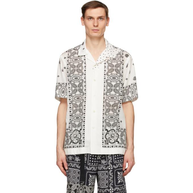 Photo: Sacai White Mix Print Archive Short Sleeve Shirt