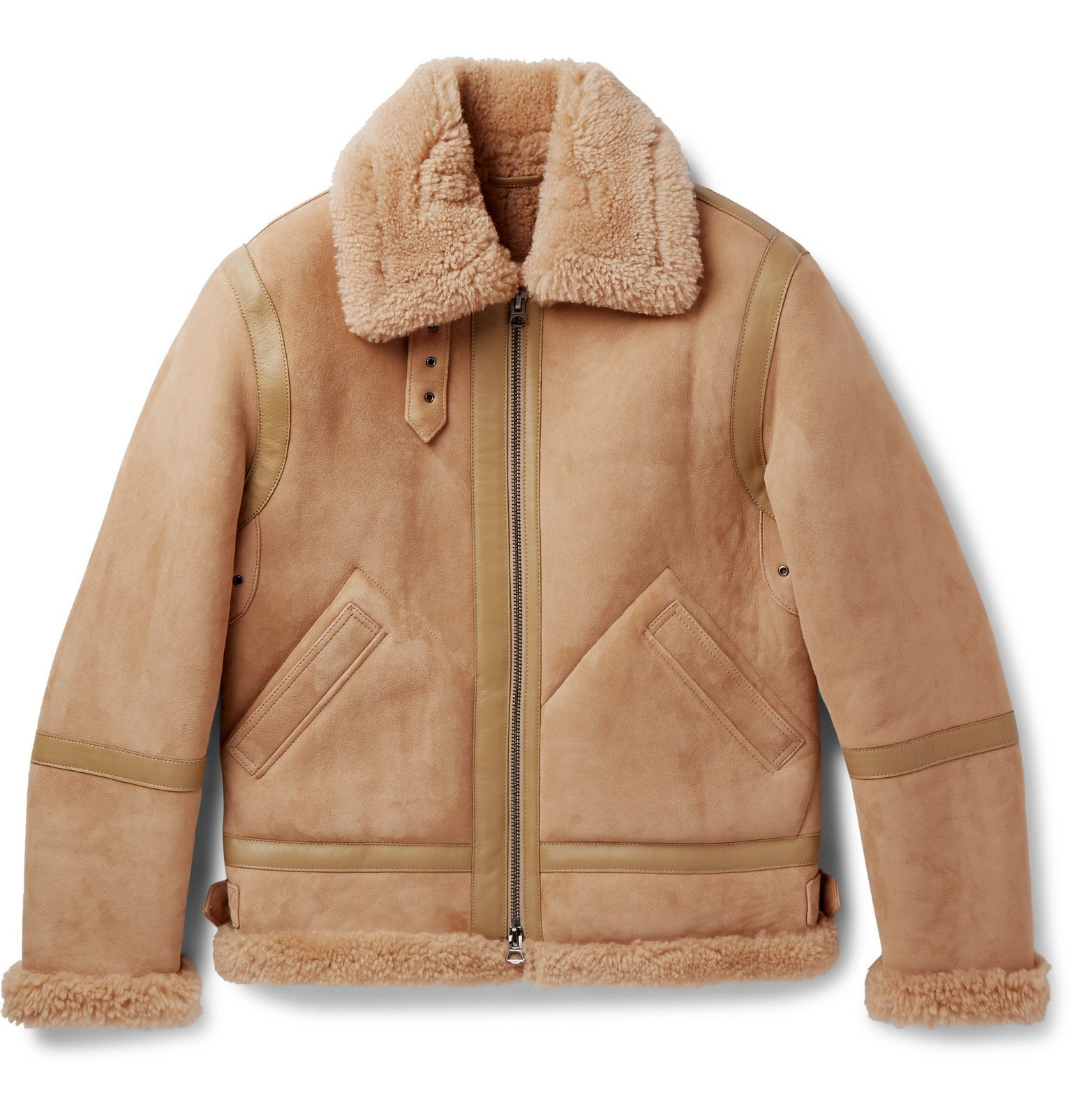Photo: Acne Studios - Ian Leather-Trimmed Shearling Jacket - Brown