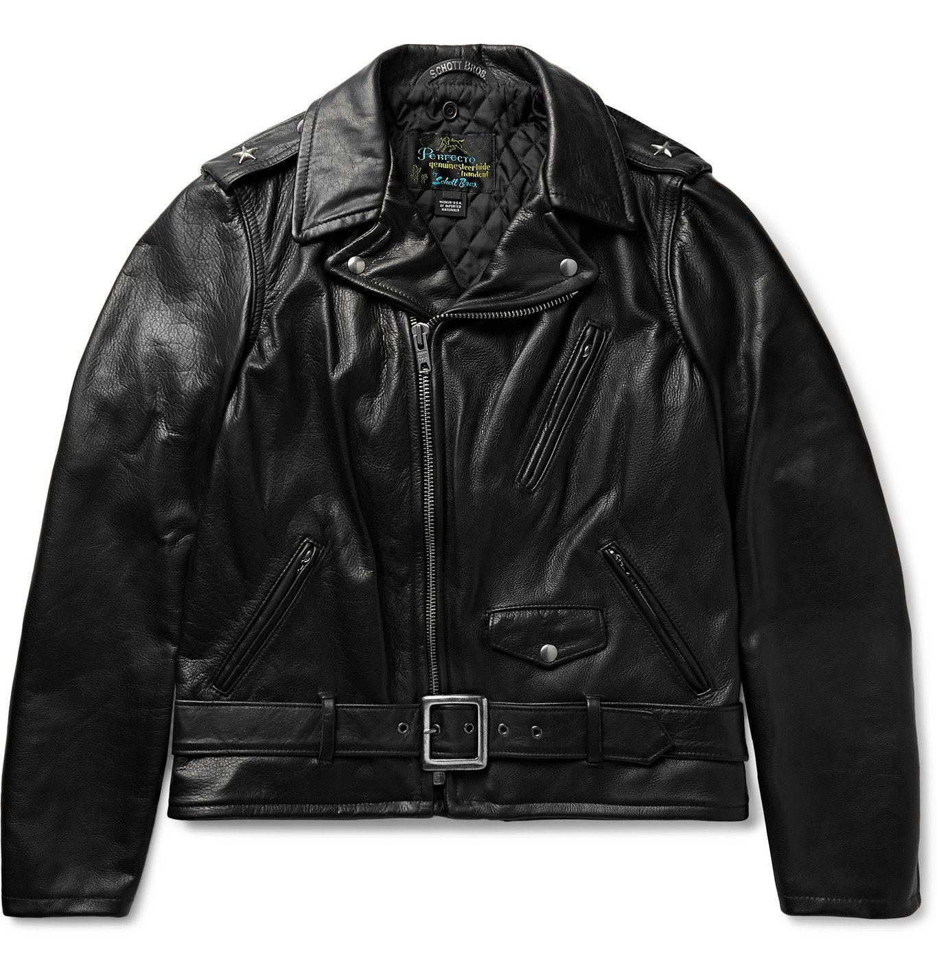 Photo: Schott - Perfecto Leather Biker Jacket - Black