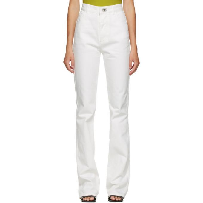 Photo: Bottega Veneta White Plain Straight Jeans