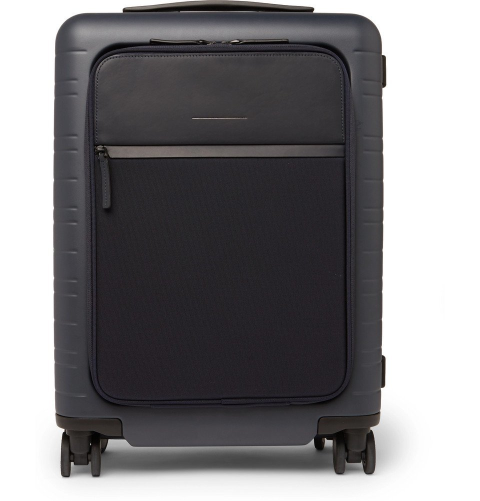 Photo: Horizn Studios - Model M 55cm Polycarbonate, Nylon and Leather Carry-On Suitcase - Navy