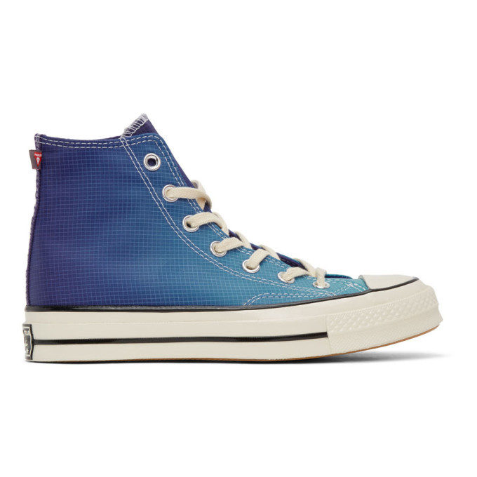 Photo: Converse Blue and Purple PrimaLoft Chuck 70 High Sneakers