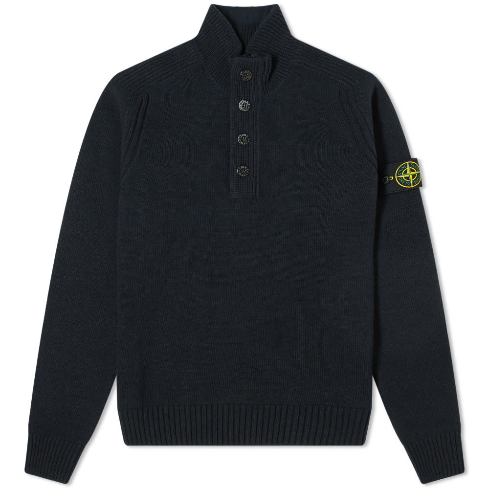 Photo: Stone Island Button Funnel Crew Knit