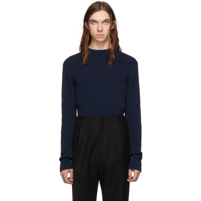 Photo: Bottega Veneta Navy Cotton Sweater