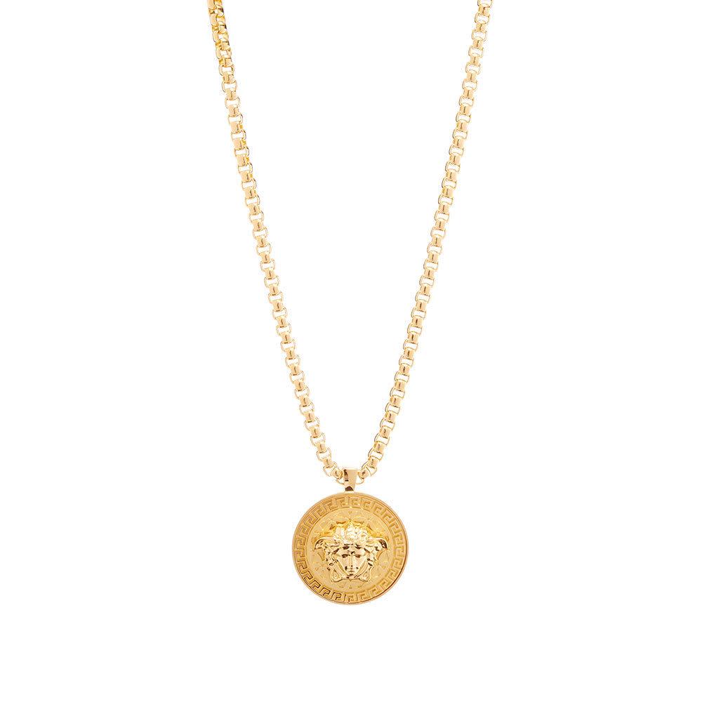 Photo: Versace Medusa Head Medallion Necklace