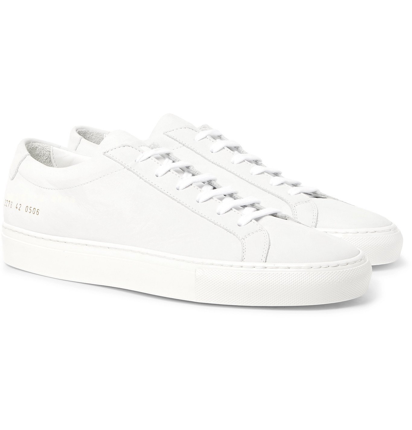 Photo: Common Projects - Achilles Lux Nubuck Sneakers - White