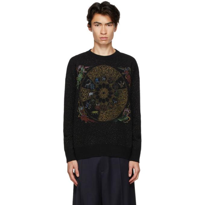 Photo: GmbH Black Wool Zodiac Sweater