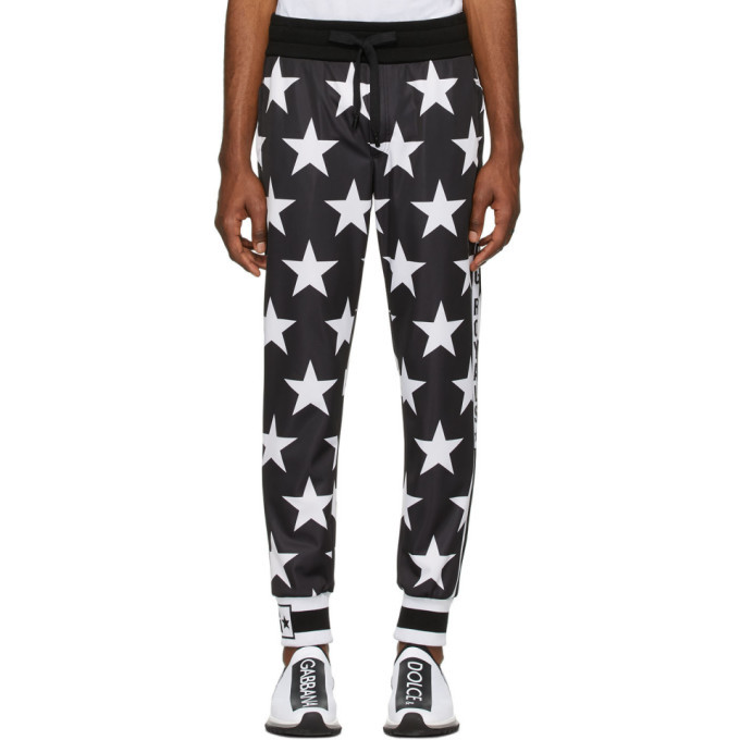 Photo: Dolce and Gabbana Black Millennial Star Lounge Pants