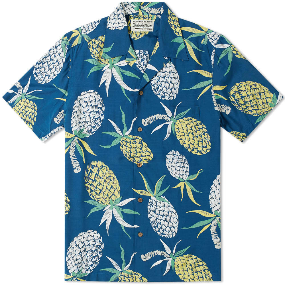 Photo: Wacko Maria Pineapple Hawaiian Shirt Blue