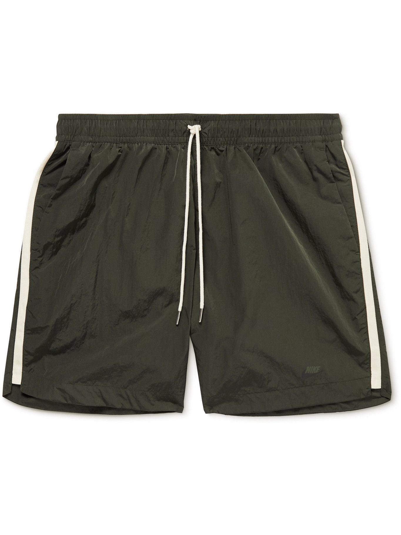 Photo: Nike - Sportswear Twill-Trimmed Nylon Drawstring Shorts - Green