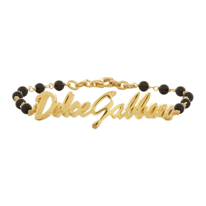 Photo: Dolce and Gabbana Gold Ball Logo Bracelet