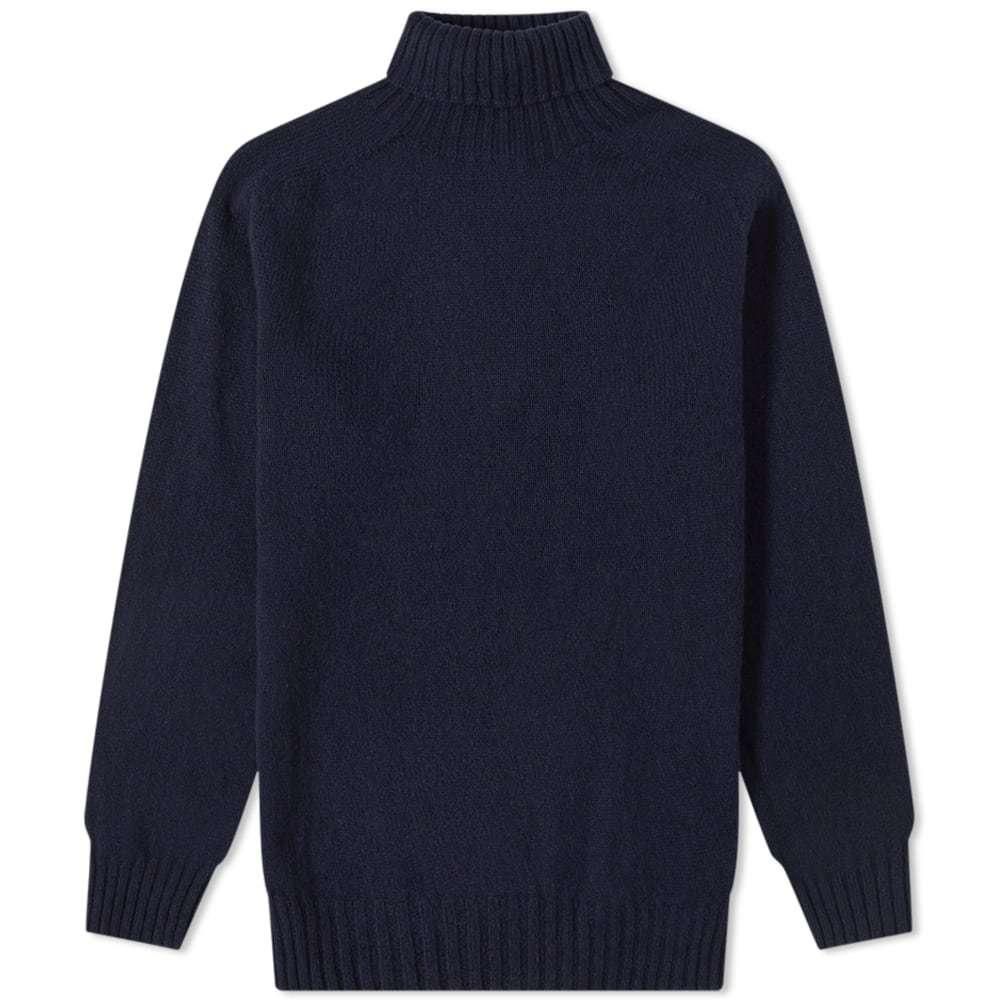 Officine Generale Scottish Wool Turtle Neck Knit