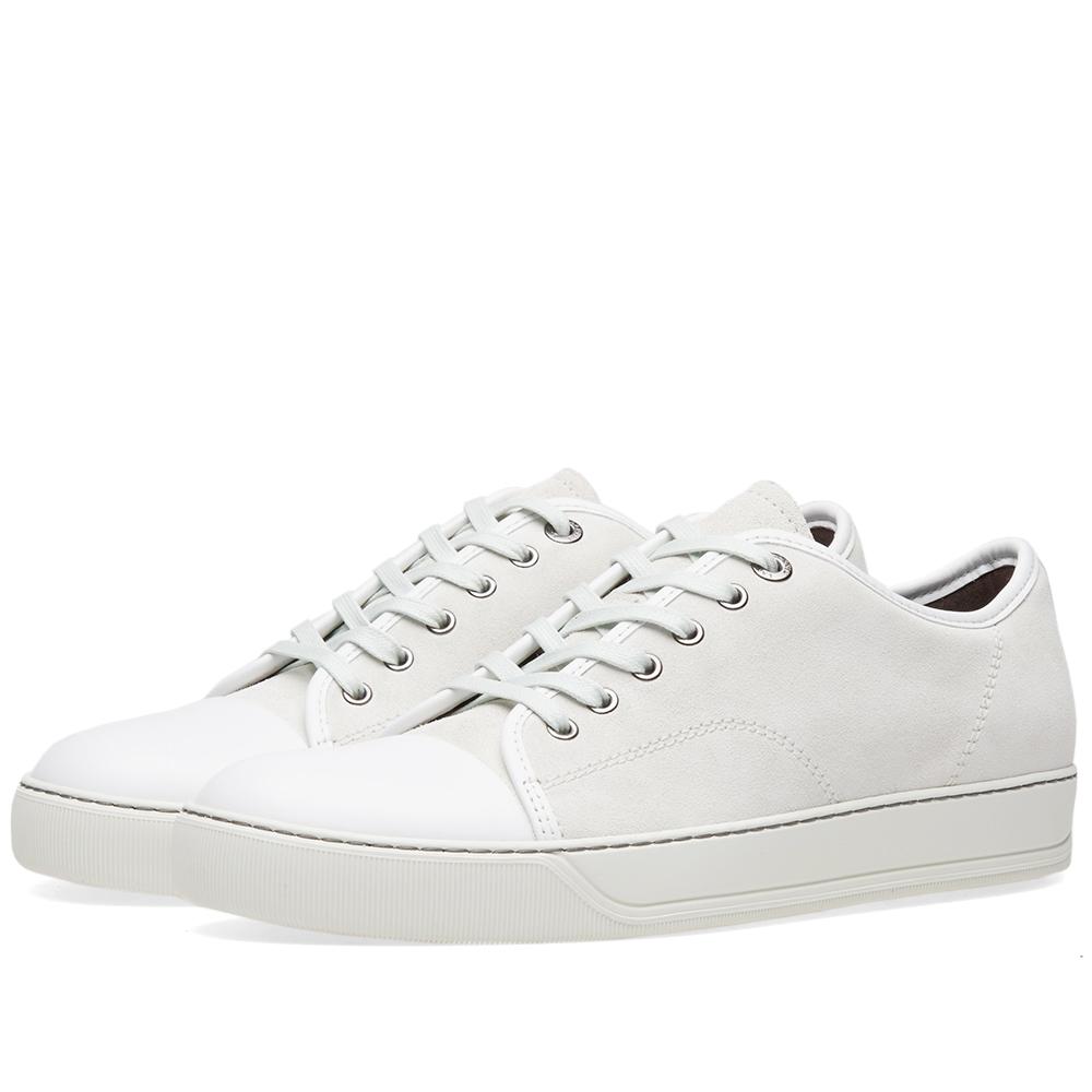 Photo: Lanvin Toe Cap Suede Low Sneaker Grey