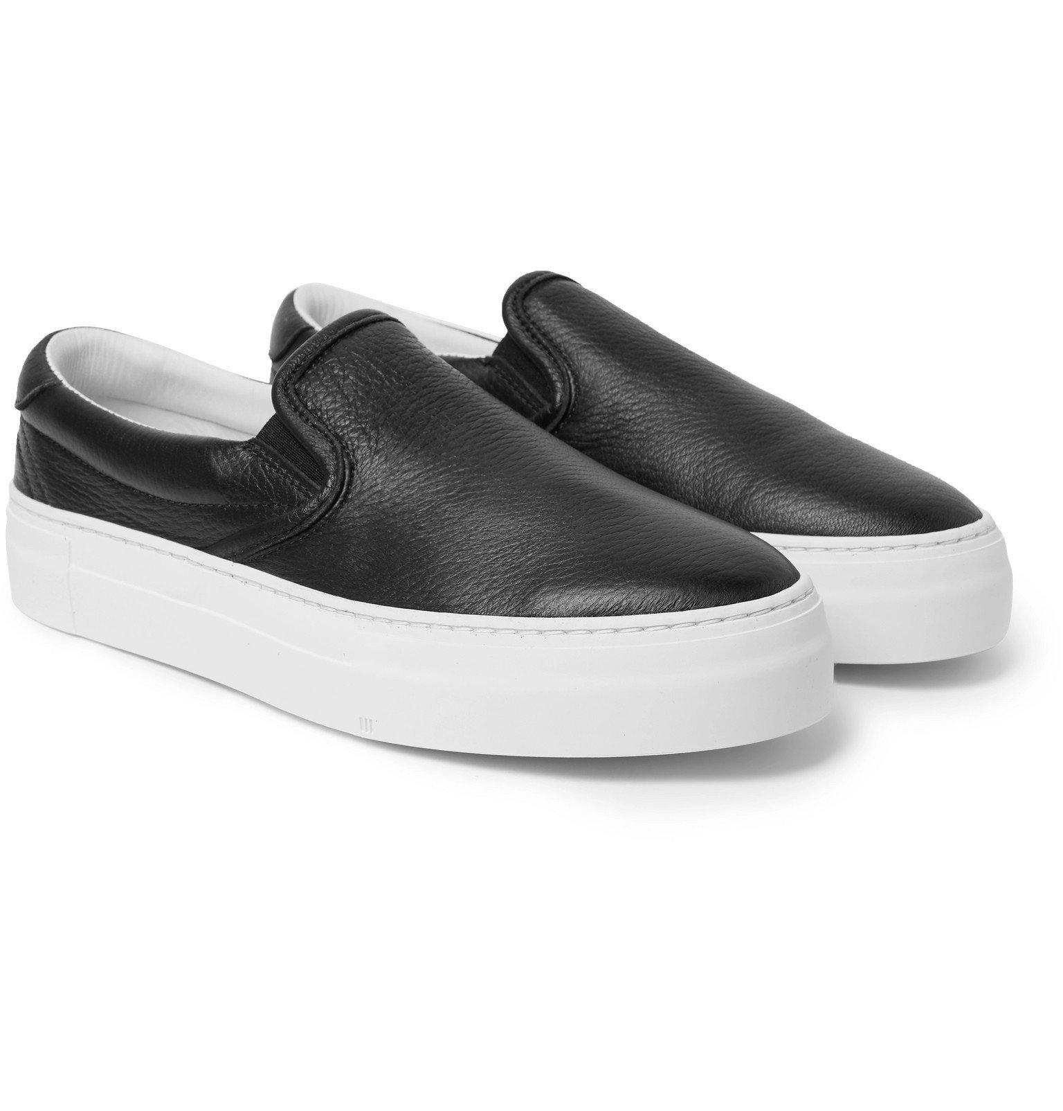 Photo: Diemme - Garda Full-Grain Leather Slip-On Sneakers - Black