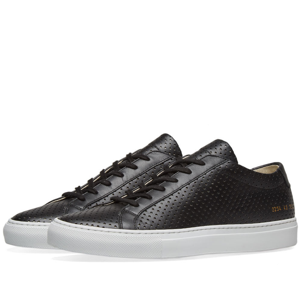 Photo: Common Projects Achilles Low Perforated Black