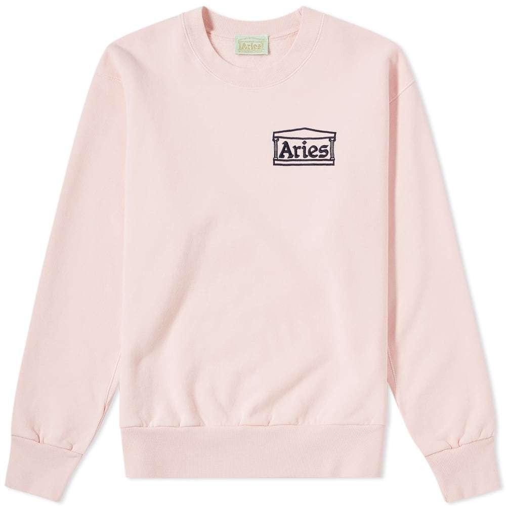 Aries Logo Crew Sweat Pink