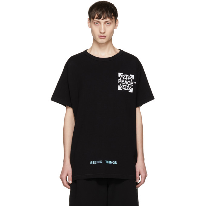 Photo: Off-White SSENSE Exclusive Black Globe T-Shirt