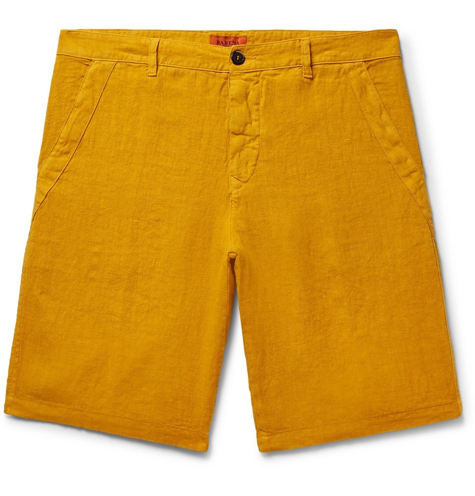 Photo: Barena - Linen-Blend Shorts - Men - Saffron