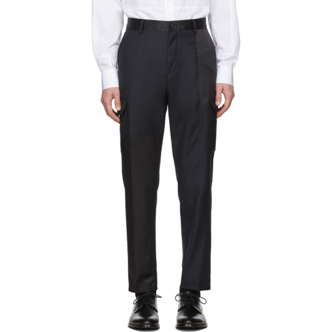Photo: Tiger of Sweden Black and Navy Wool Clone PW Trousers